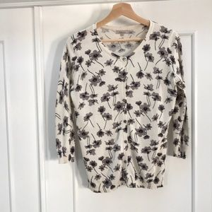 Kew London flowery sweater cardigan size M